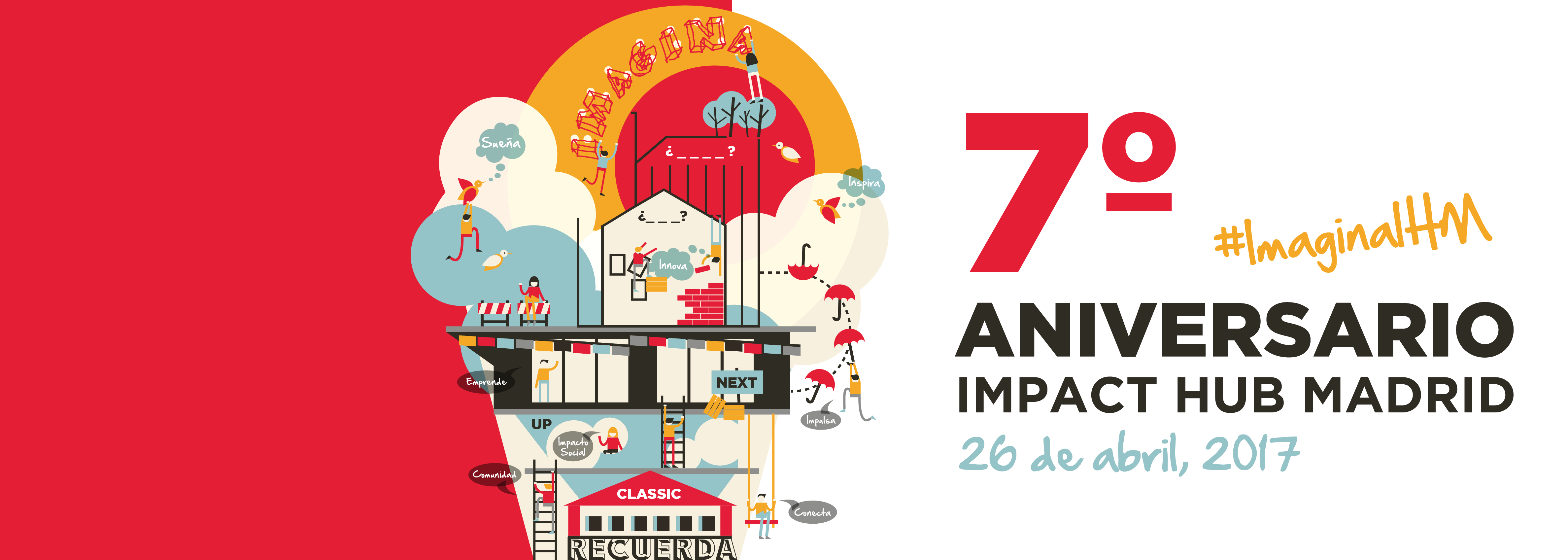 Recuerda. Imagina. 7º aniversario Impact Hub Madrid