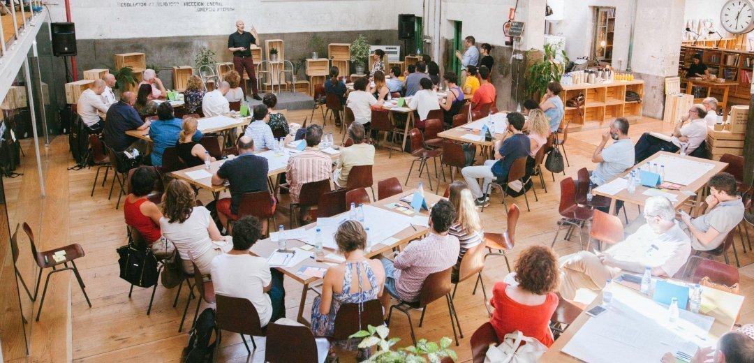 Alberto Levy en el primer Lab de Innovación Rural, celebrado en Impact Hub Gobernador