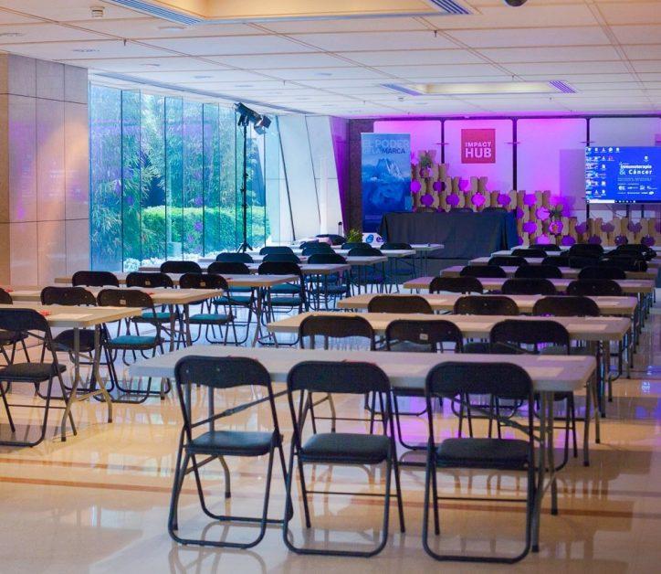 La transformación del Patio Inglés de Torre Picasso: un espacio para eventos de 250 personas