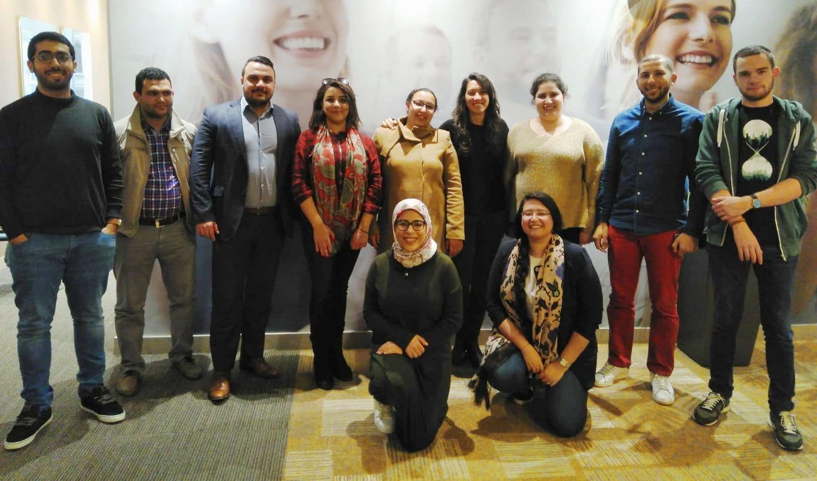 Participantes en la formación de Egipto que impartió Mikel Oleaga