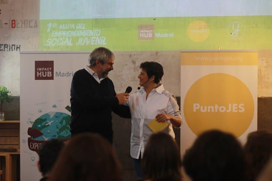 Antonio González de Impact Hub y Lorena Silvestri de Punto JES