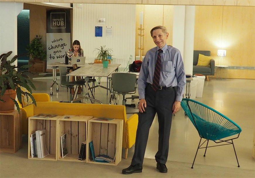 Bill Drayton, fundador de Ashoka, en Impact Hub Madrid