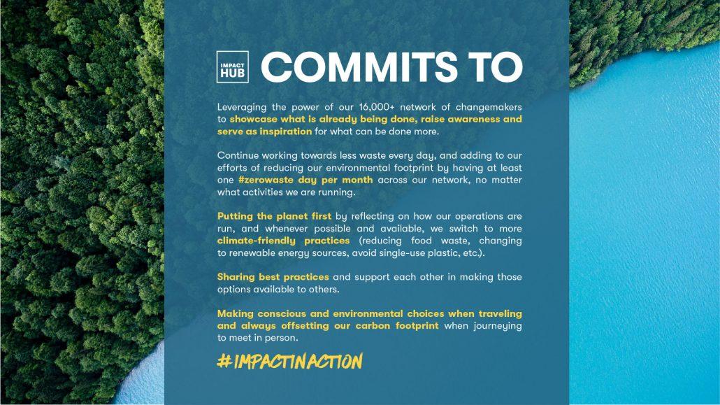 El compromiso de Impact Hub para hacer frente a la crisis climática