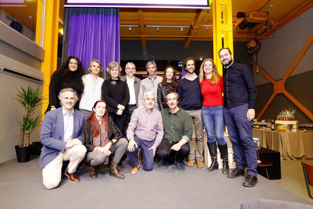 Autores del ebook Social Wellbeing durante su presentación en Impact Hub Prosperidad