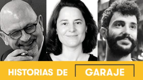De izquierda a derecha, Rémi Parmentier (Varda Group), Sara Acosta (Ballena Blanca) y Eugenio García (Light For Humanity).