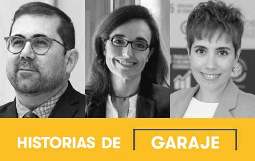 De izquierda a derecha, Federico Buyolo, Ana Gascón y Vanesa Rodríguez Vindel.