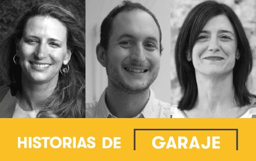 De izquierda a derecha, Isabelle Le Galo, directora de la Fundación Daniel y Nina Carasso; Alberto Alonso de la Fuente, coordinador de la red ibérica de Impact Hub; y María García, cofundadora de Innuba.