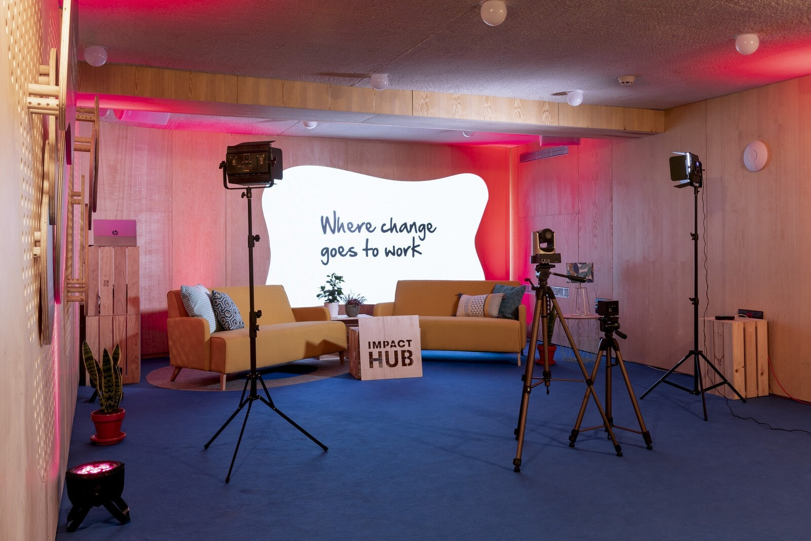 Sala Webinar Impact Hub Barceló