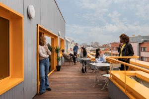 Terraza en Impact Hub Prosperidad coworking